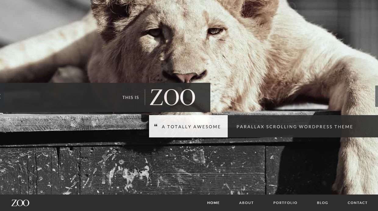 Zoo museum template wordpress bảo tàng